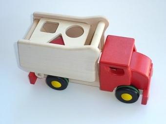 Lastbil plocklåda röd