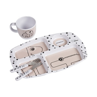 Presentförpackning - Toddler dinner set, Happy dots, powder