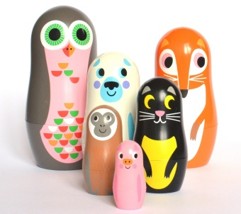Stapelfigurer - Matryoshka Animlas 2