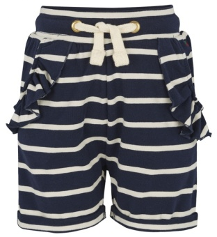 Shorts, marinblå/vita