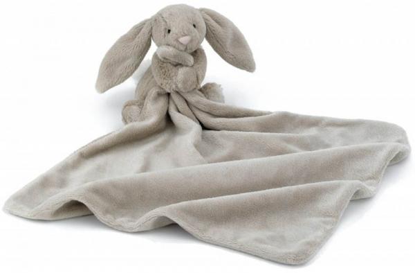 Bashful Beige Bunny Soother, brun kanin med snuttis