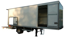 Box trailer, single axle