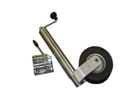 Jockey wheel (heavy duty model) round 60 mm with clamp (for model Indigo HF Auto)