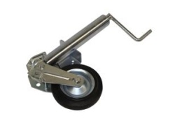 Jockey wheel (ultra heavy duty, automatical foldable model with pedal)