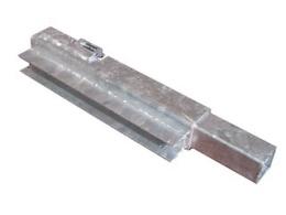 Hörnstolpe Cobalt H, Front, 30 cm, U-profil, Höger