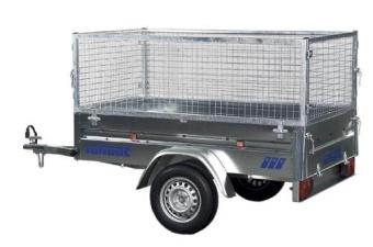 Variant 754 F1 med gallergrindar 750 kg obromsat 260x150x100 cm