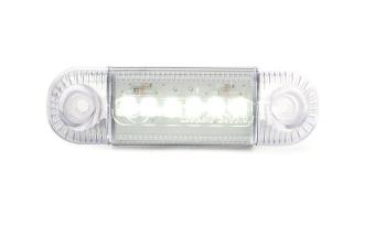 Strands Positionsljus 6 LED Vit 12-24V E-märkt