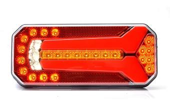 Strands Baklampa LED universal 12-24V 5 funktioner. Dynamisk blinkers