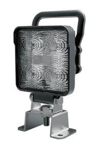 Strands Arbetslampa LED kvadrat 9W 9-32V Med handtag och integrerad switch