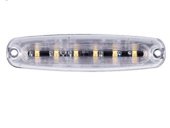Swedstuff Blixtljus 6 LED Orange 12-24V DC, 18W, 26 mönster