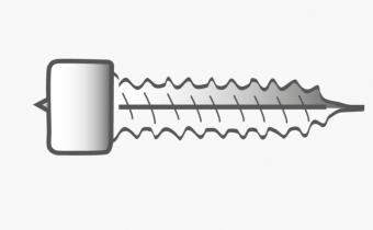 Skruv för FLATPOINT II VIT LED