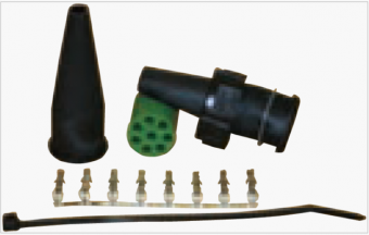 Bajonettkontakt 8-Pol - Grön