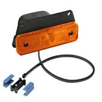 Sidepoint gul med reflex - rakt fäste och kabel 0.25 m