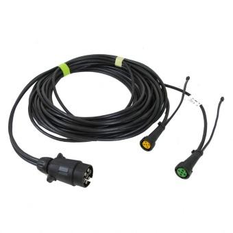 Kabel 13 polig kontakt med 2 ext DC och ladning