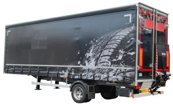 Curtain trailer, single axle