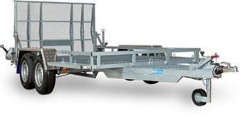 Reko maskintrailer 3500 kg - 185x350 lämhöjd 17 cm - inkluderar höjdjusterad drag med VBG-koppling