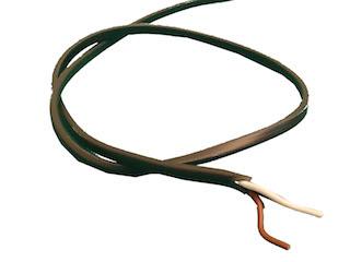 Lamp cable 2X0,75 PVC, Plat, Per meter