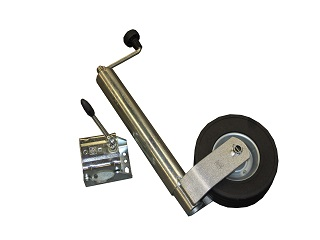 Jockey wheel (heavy duty model) round 60 mm with clamp (for model Indigo HF Auto)