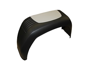 Mudguard shield plastic, single axle, bks 200/270 (for Model Basic L); (Grey protection plate is not including)