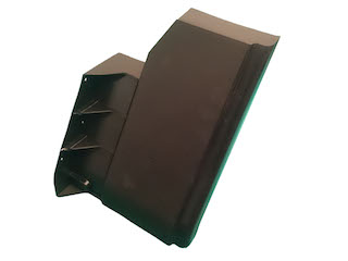 Stänkskärm plast, D-E, högersida bak + vänstersida front (2013)
