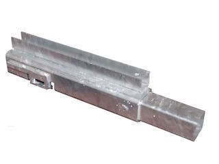 Hörnstolpe Cobalt H, Front, 30 cm, U-profil, Vänster