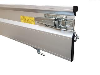 Tailwall in aluminium, 150x30, complete for model AL-C (model 2013)
