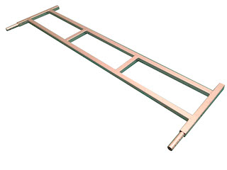 Front ladderrack 134x40 stiffened, for model Azure L 130 cm, galvanised