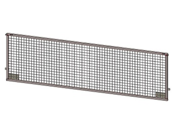 Side weldmesh extension 375x75, for Azure H, with lock