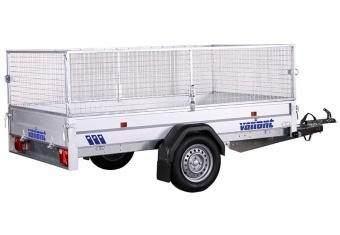 Variant 1315 F1 med gallergrindar 1300 kg bromsat 260x150x87 cm