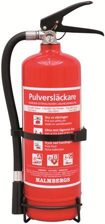 Brandsläckare 2KG ABC Pulver