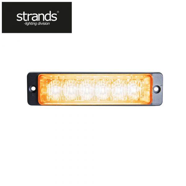 Strands Blixtljus Slim 12-24V 6LEDx3W ECE/R65 class 2 godkänd Orange
