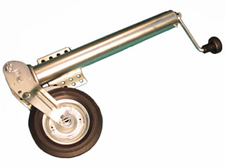 Kraftigt självuppvikande stödhjul, lågt fäste