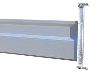 Tailwall, aluminium, 200 x 30, complete with hinge pendulating 438 mm, Cobalt