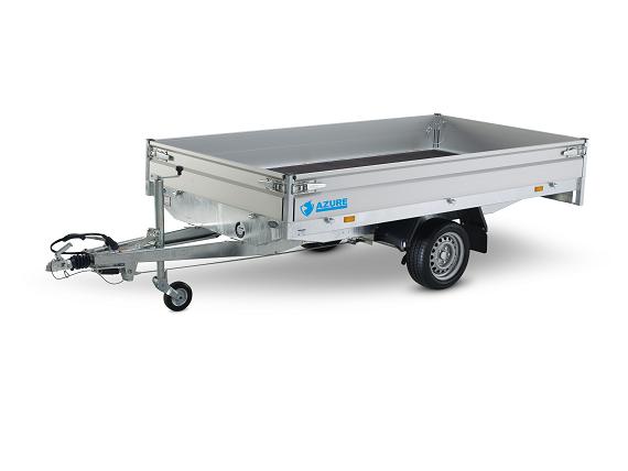 Hapert Azure H1 - 750 - 260x150 - Aluminiumdurk - Förhöjningssidor 30 cm