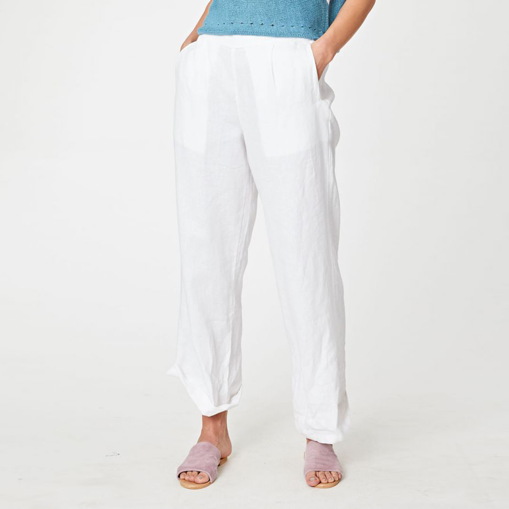 Jazmenia Slacks - White