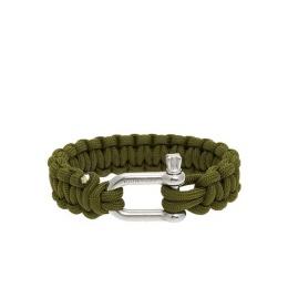Paracord Armband Classic Green - Naimakka