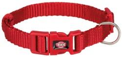 Premium halsband, XS/S: 22-35 cm/10 mm, röd