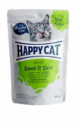 HappyCat våt/sås, Adult, lamm & lever 85g
