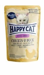 HappyCat våt, Junior, kyckling & anka 85g