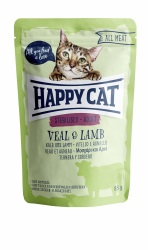 HappyCat våt, Adult, sterilised, kalv & lamm 85g