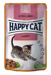 HappyCat våt/sås, Kitten/Jun. anka, 85 g