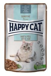 HappyCat våt/sås, Skin&Coat, 85 g