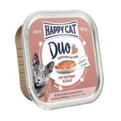 HappyCat Duo meny Paté fågel & oxkött, 100 g