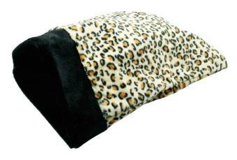 Prasselpåse leopardfärgad 39x47 cm