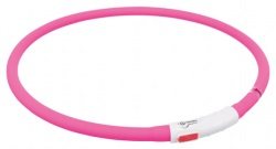 Flash light ring USB, silikon, XS-XL: 70 cm/ø 10 mm, rosa