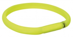 Flash light band USB, L-XL: 70 cm/17 mm, limegrön
