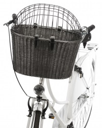 Cykelkorg front med galler , 44 × h34 × 41 cm, antracit