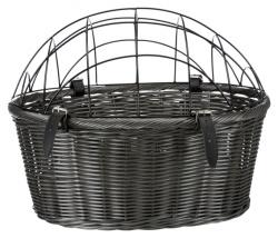 Cykelkorg med galler, 44 × 34 × 35 cm, max 5 kg, grå