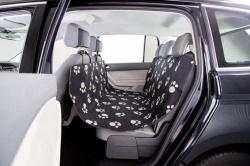 Bilskydd för baksäte, 0.65 × 1.45 m, svart/beige