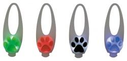 Flasher för hund, ø 2.4 cm/8 cm, vit m. motiv